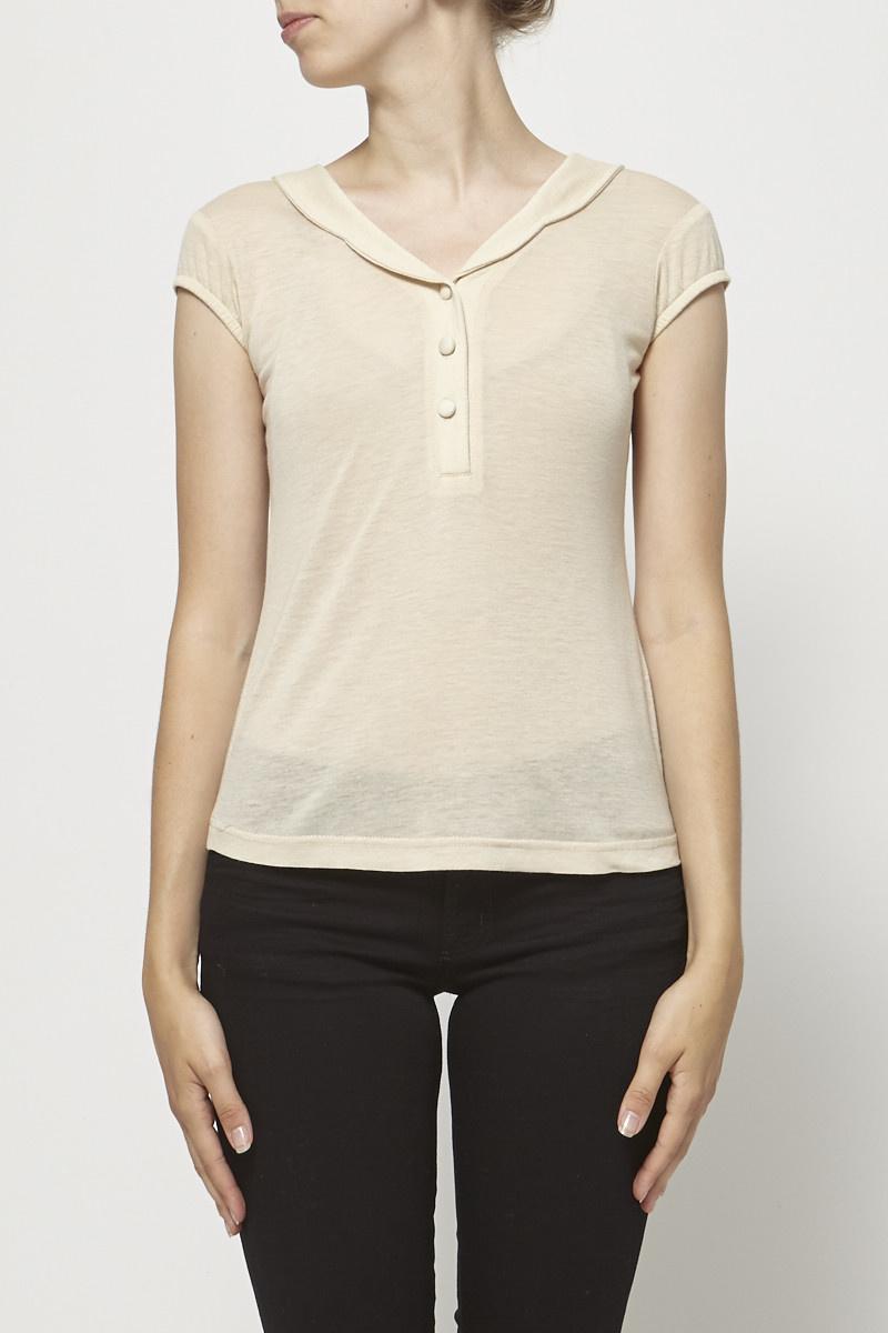 les ventes chaudes bff97 df73b Haut col chemise à boutons - BETINA LOU