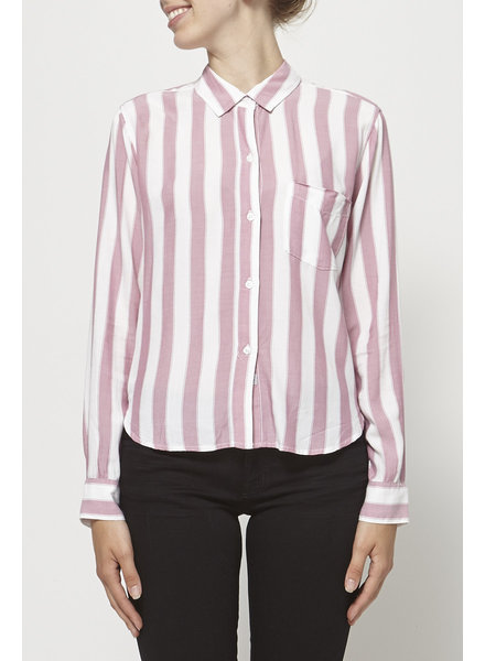 Rails PINK AND WHITE STRIPED SHIRT - NEW