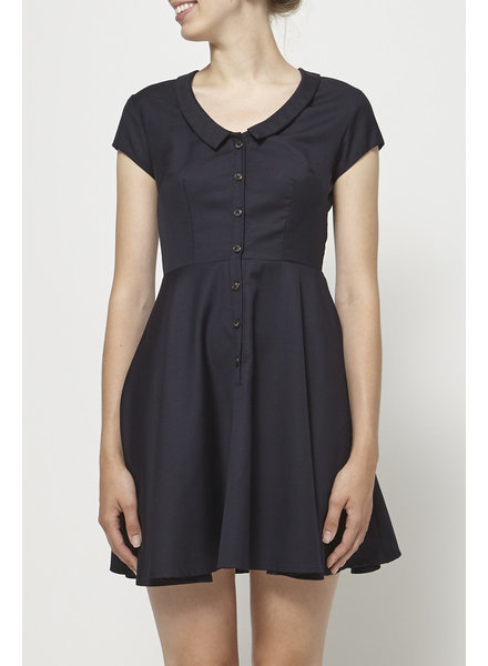Betina Lou NAVY DRESS WITH WOOL