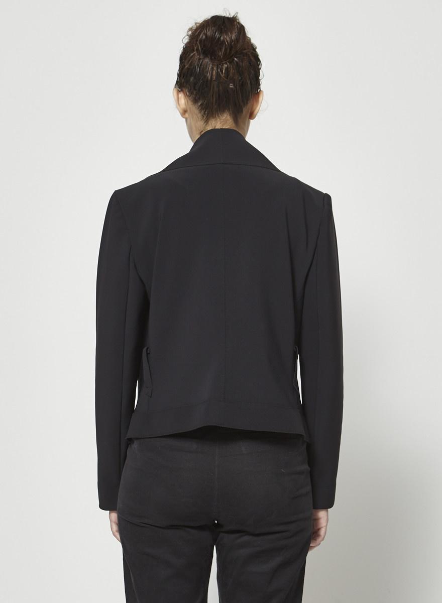 Marie Saint Pierre Black Neoprene-Like Blazer