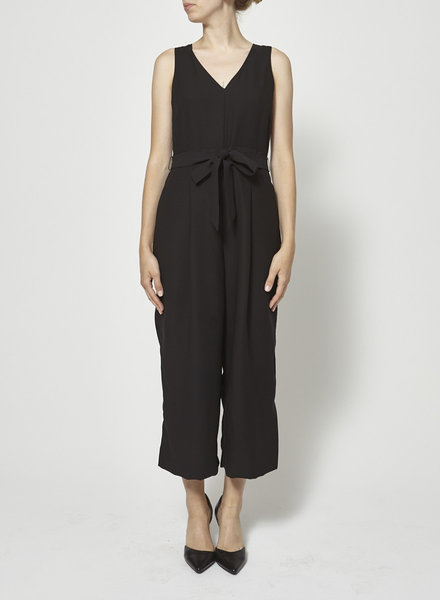 Banana Republic BLACK V-NECK JUMPSUIT