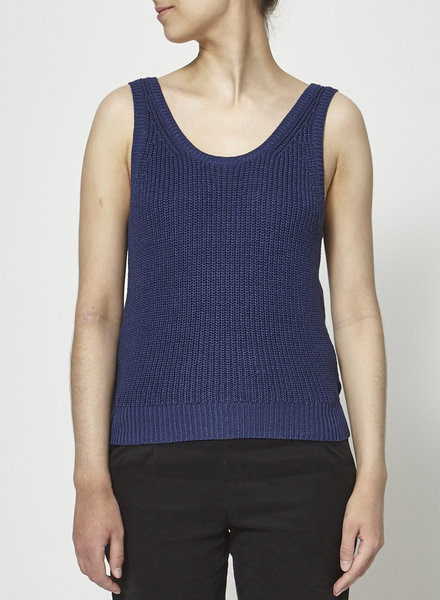 Babaton BLUE OPEN-BACK KNITTED TOP
