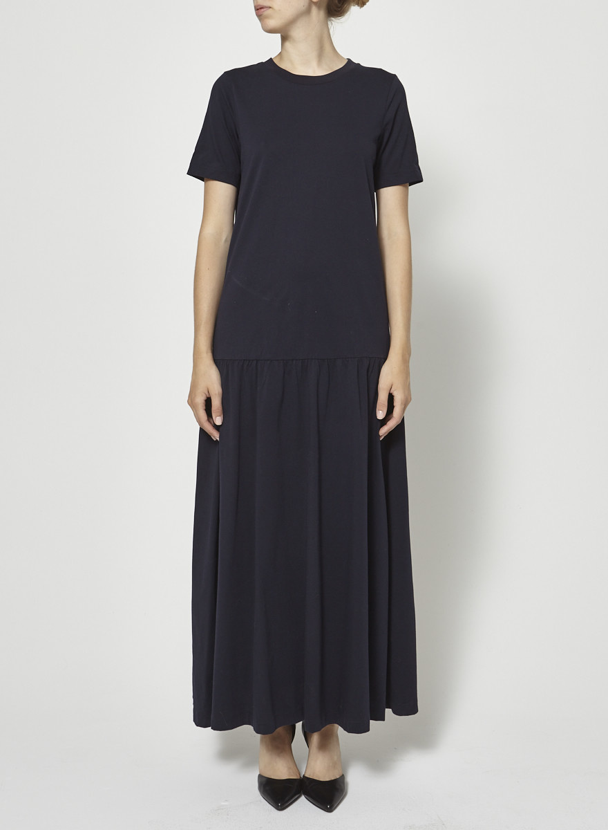 COS Navy Long Cotton Dress