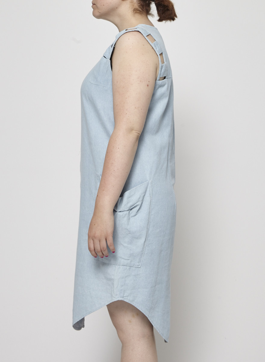 Eve Gravel Robe en chambray à boutons