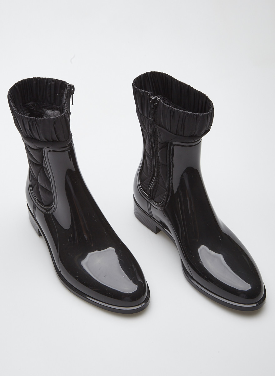Lemon Jelly Black PVC Boots