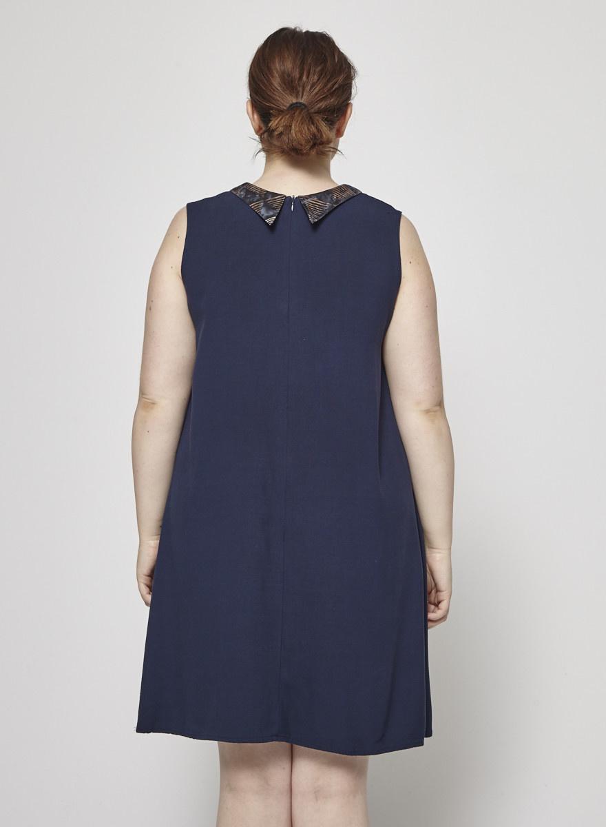 Jennifer Glasgow Blue Sleeveless Dress