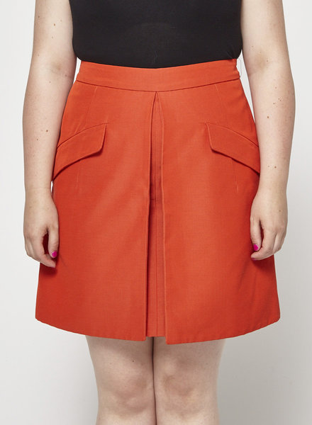 McQ Alexander McQueen ORANGE SKIRT - WITH TAGS