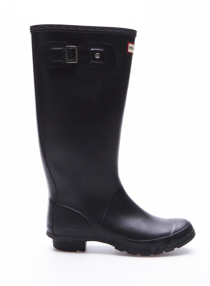 Hunter Black Rubber Wellington Rain Boots