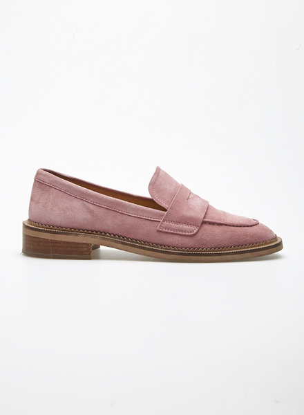 & Other Stories PINK SUEDE LOAFERS