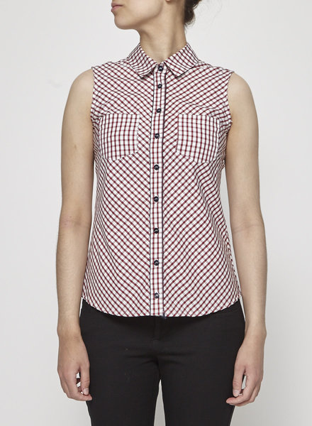 Betina Lou CHECKED SLEEVELESS SHIRT