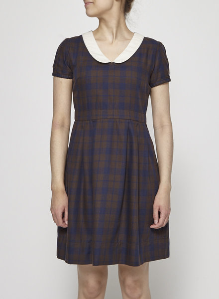 Betina Lou PETER-PAN COLLAR TARTAN DRESS - NEW