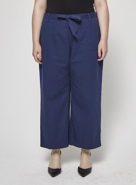 Betina Lou NAVY COTTON PANTS - NEW