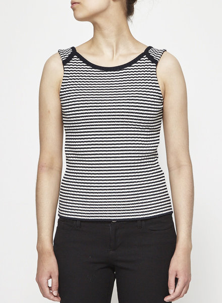 Betina Lou BLACK AND WHITE STRIPED KNITTED TANK TOP