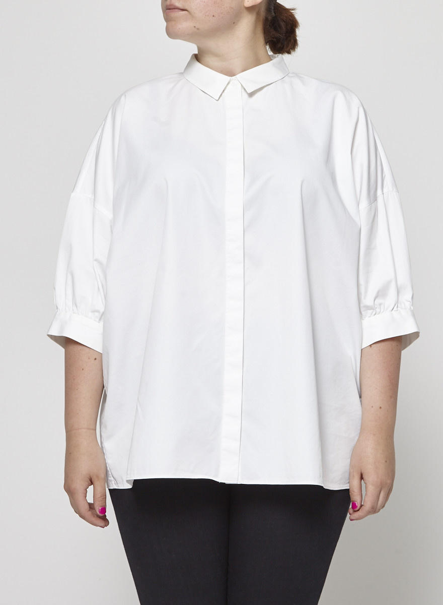 COS White Puff-Sleeve Shirt