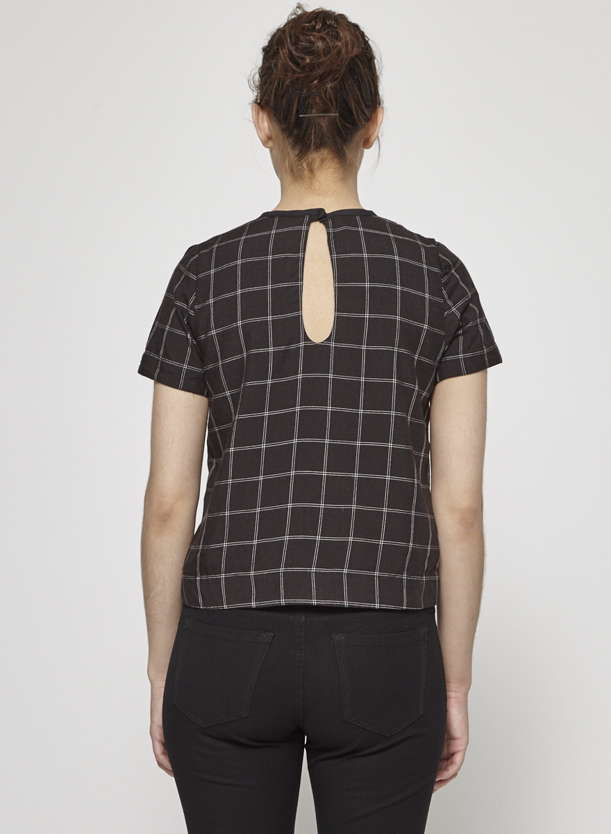 Betina Lou Black Checked Top - New