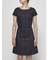Betina Lou BLUE AND BROWN TARTAN DRESS - NEW