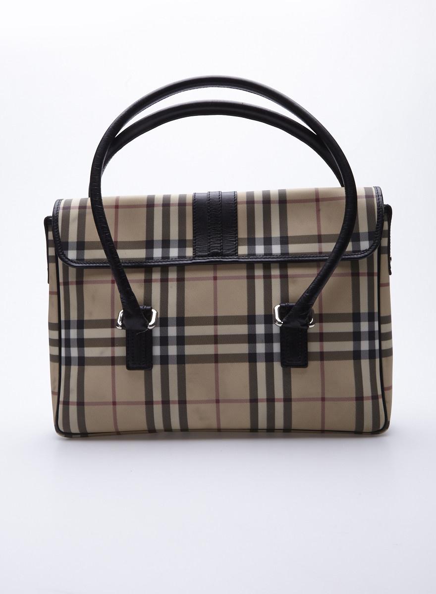 photos officielles techniques modernes modèles à la mode Burberry Sac à main rectangulaire motif tartan