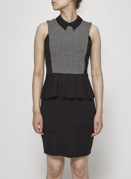 Eve Gravel BLACK PEPLUM DRESS