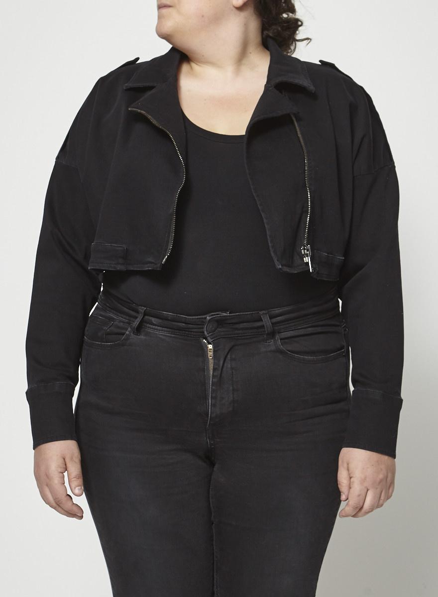 Ashley Graham x Marina Rinaldi Short Denim Jacket