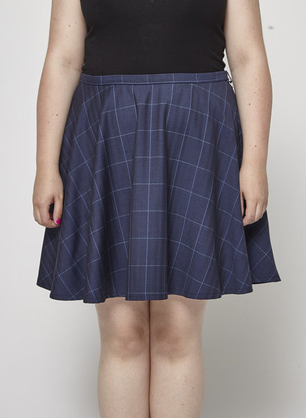Betina Lou LAURA PLAID WOOLEN SKIRT - NEW