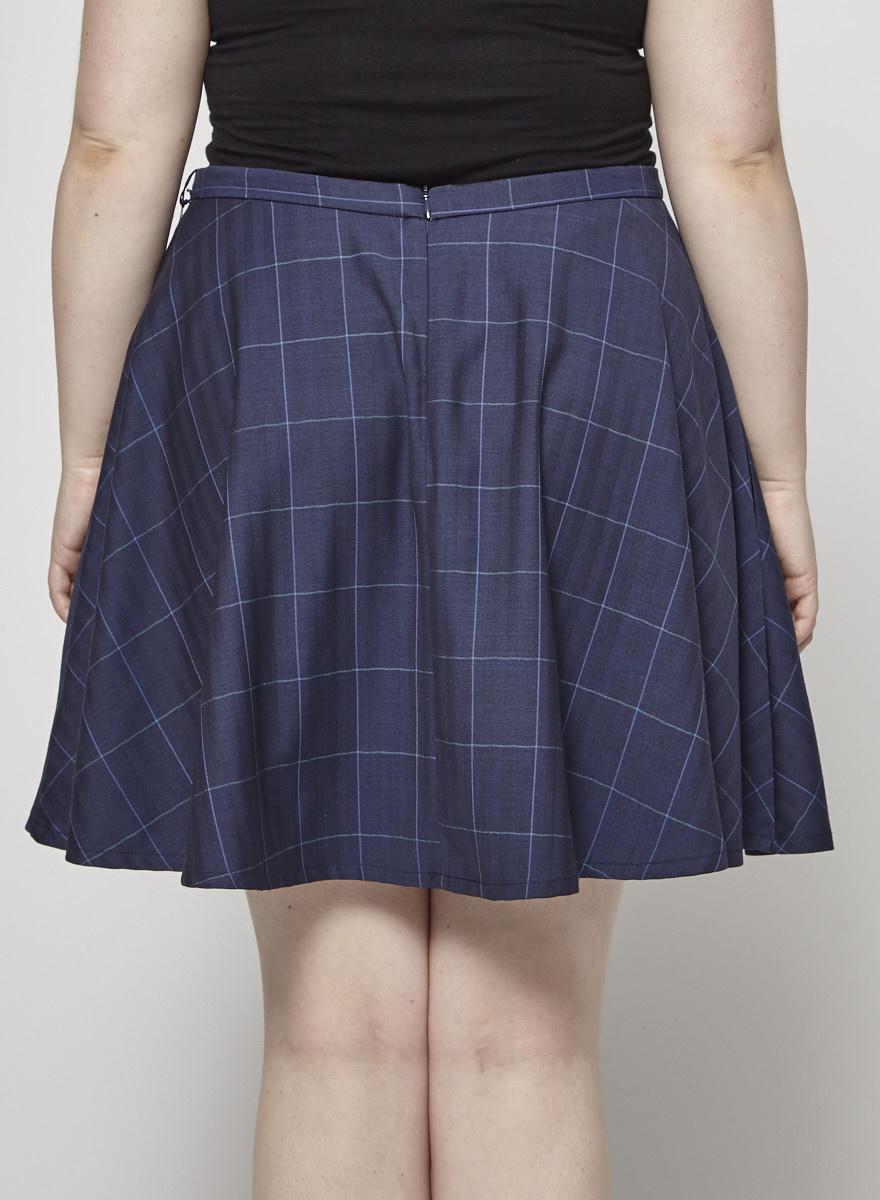 Betina Lou Laura Plaid Woolen Skirt - New