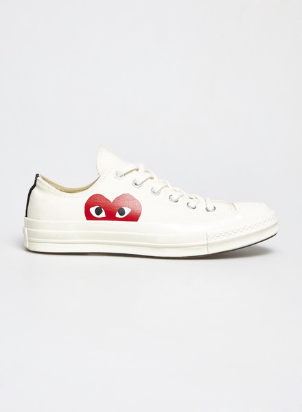 Comme Des Garçons PLAY OFF-WHITE SNEAKERS