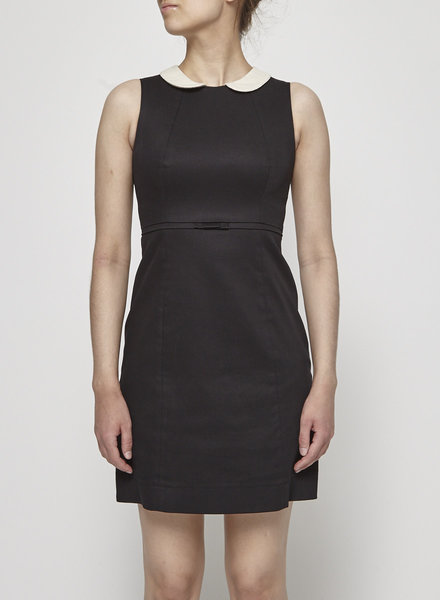 Betina Lou STELLA BLACK FITTED DRESS WITH CLAUDINE COLLAR - NEW