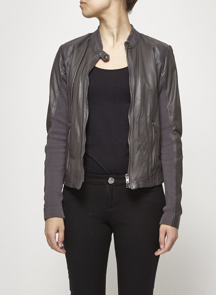 S.W.O.R.D. GRAY LEATHER JACKET