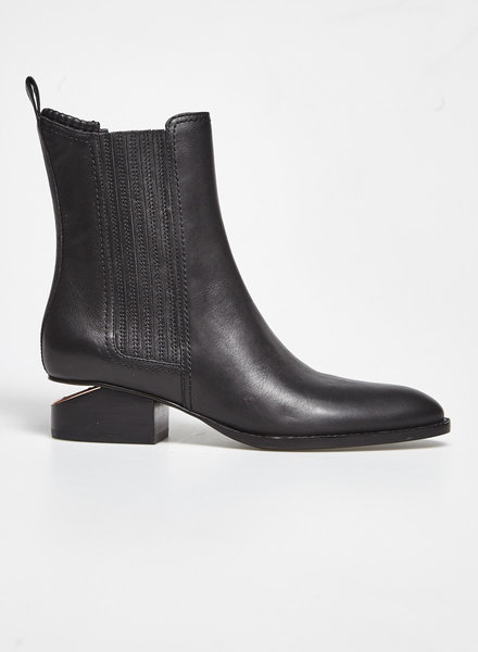 Alexander Wang 'ANOUCK' BLACK LEATHER ANKLE BOOTS - NEW