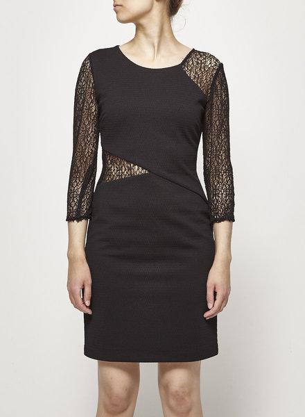 Guess BLACK LACE-PANELED DRESS