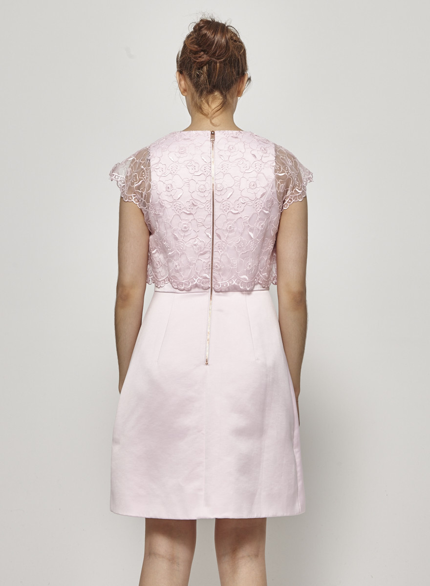 Ted Baker Candy Pink Dress with Embellishment - With Tags