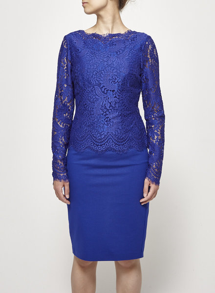 Ted Baker INDIGO DRESS WITH LACE - NEW