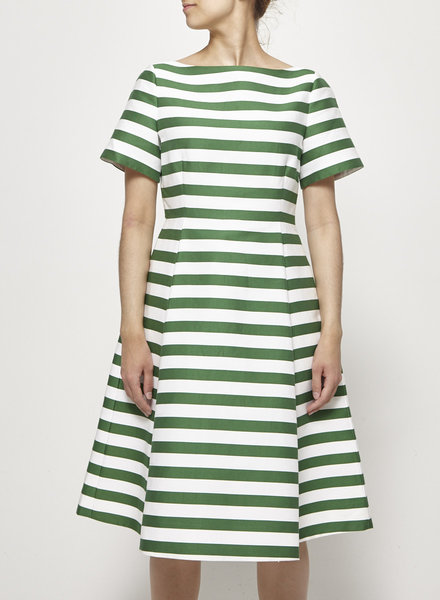 Kate Spade WHITE AND GREEN STRIPED DRESS - NEW