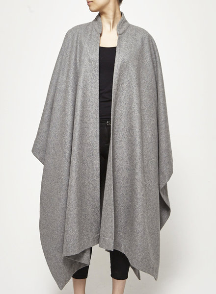 Tavãn & Mitto GRAY WOOL XXL CAPE