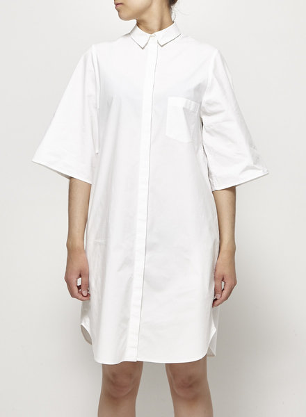 COS WHITE COTTON SHIRT DRESS
