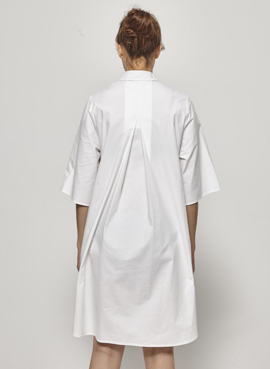 COS White Cotton Shirt Dress