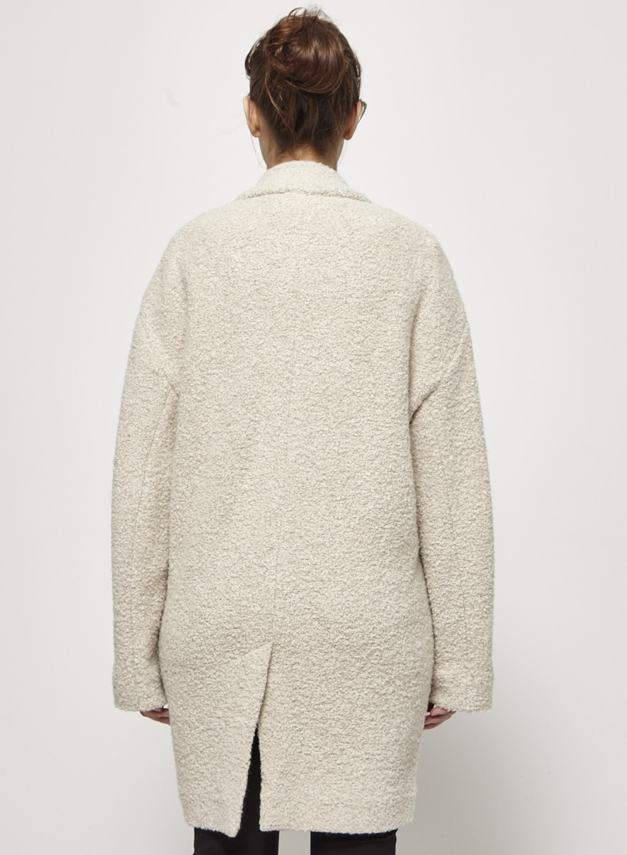 Designers Remix - Charlotte Eskildsen Loose Beige Coat with Wool
