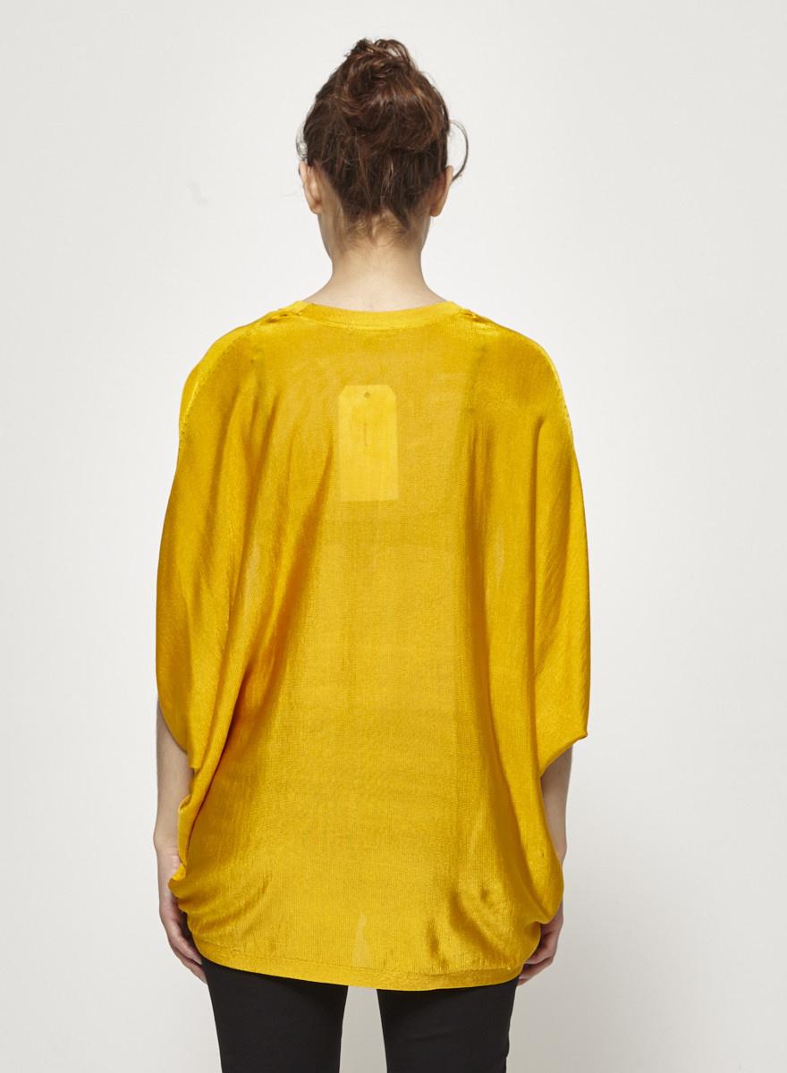 COS Pull jaune à manches chauve-souris