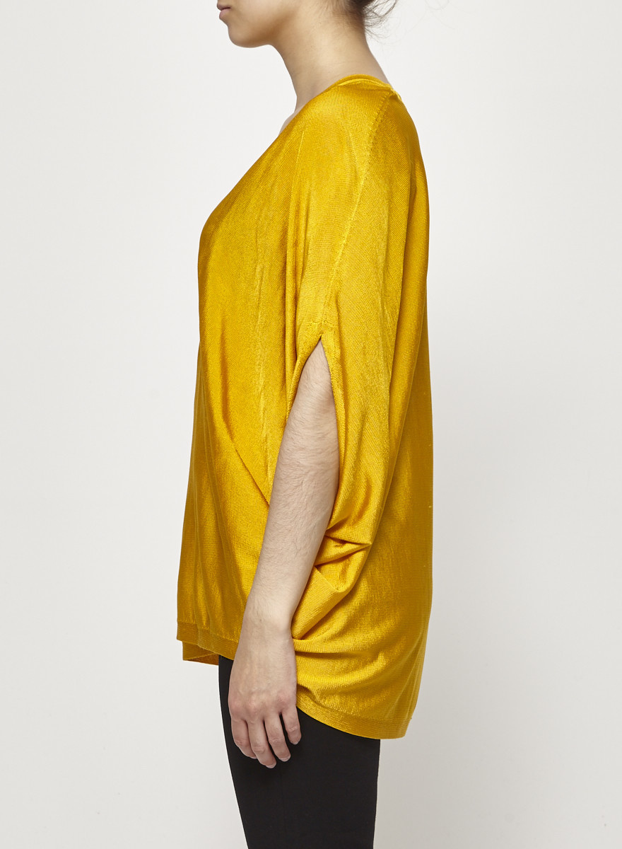 COS Yellow Batwing Sleeves Sweater