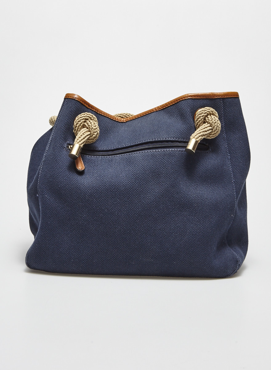 Michael Kors Navy Canvas Handbag