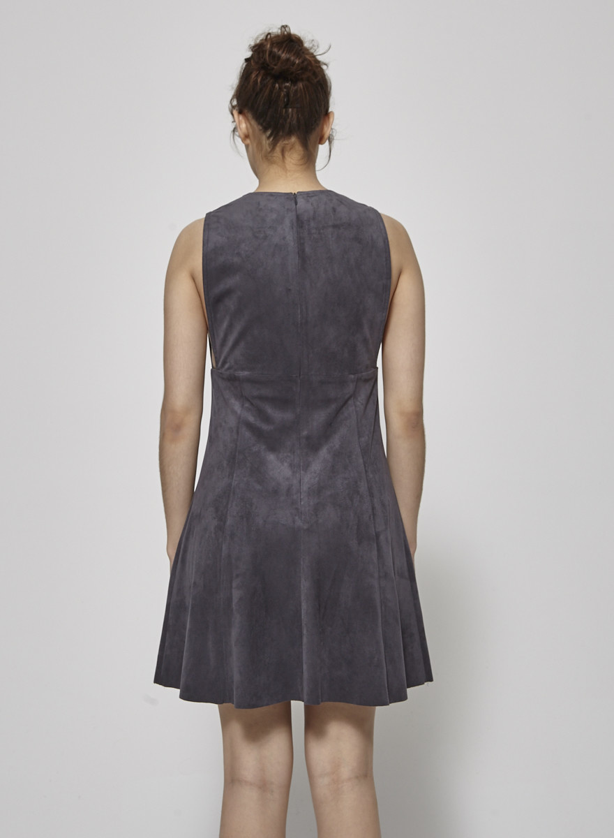 Wilfred Dark Gray Suede Effect Dress