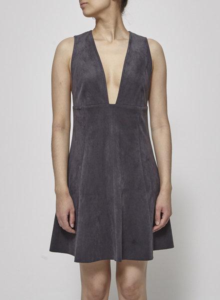 Wilfred DARK GRAY SUEDE EFFECT DRESS