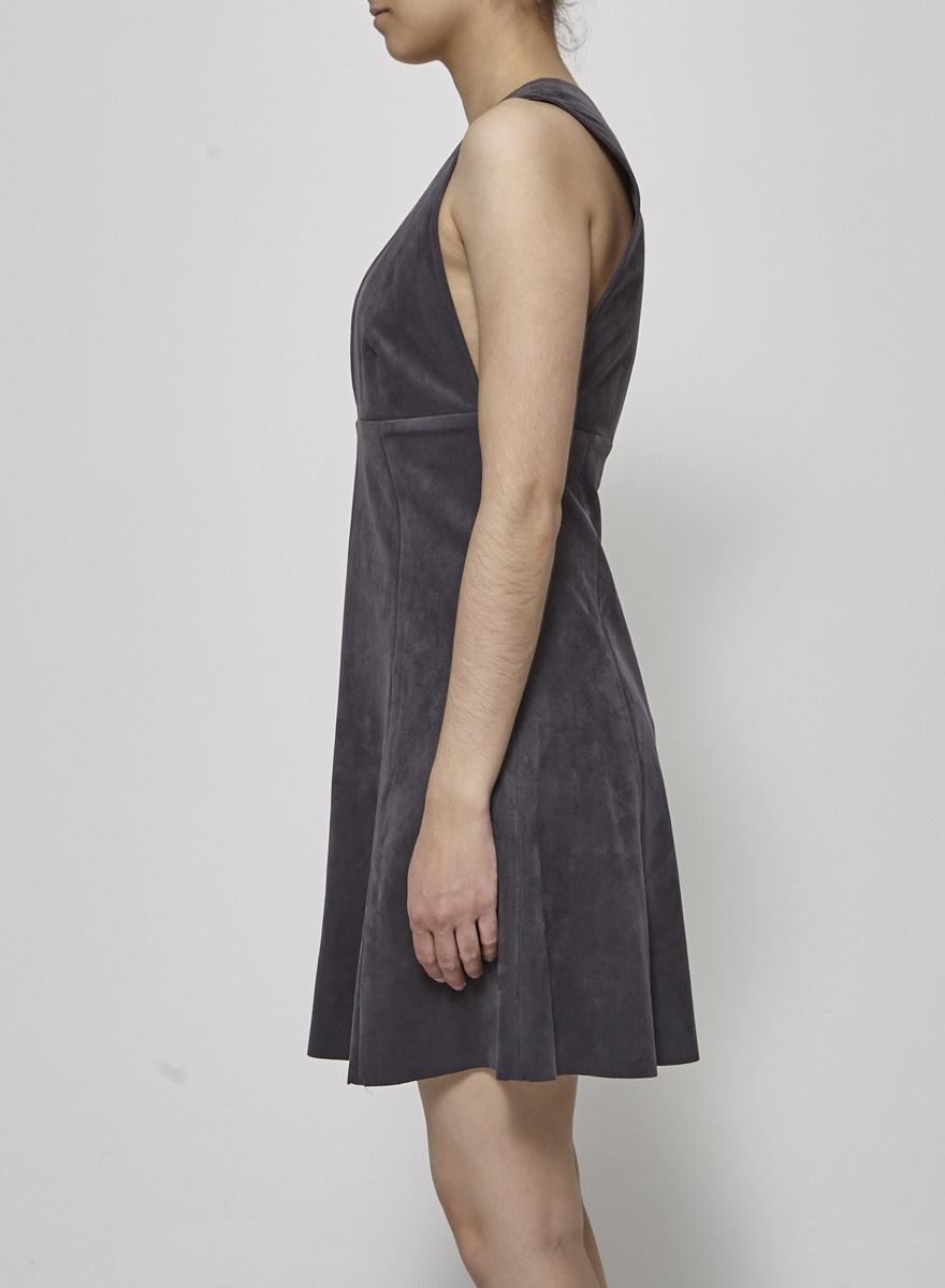 Wilfred Robe gris foncé effet suède
