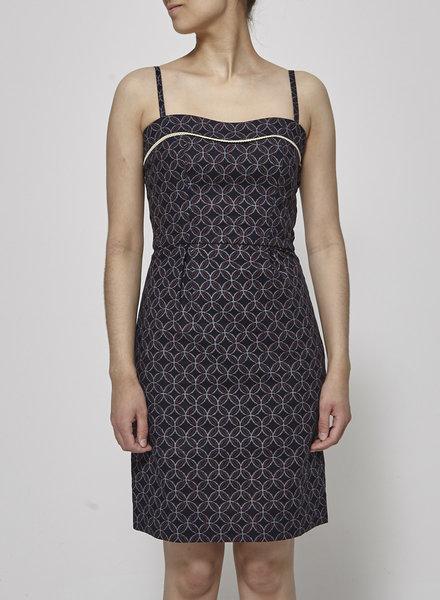 Betina Lou NAVY PRINT FLORAL DRESS - NEW