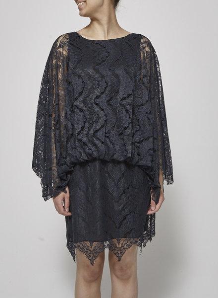 Antik Batik NAVY LACE DRESS