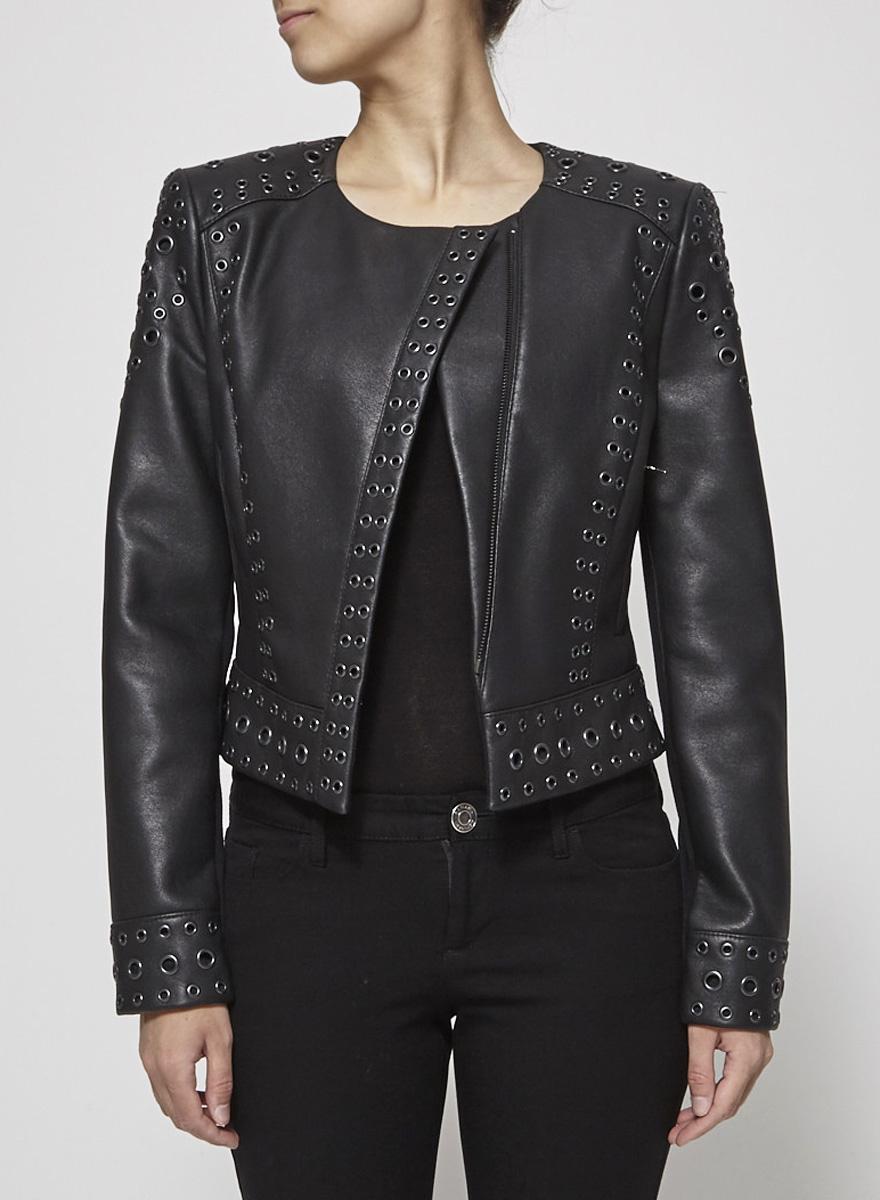 BCBG Max Azria Black Jacket with Metal Eyelets