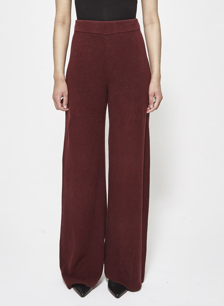 COS KNIT BURGUNDY TROUSERS
