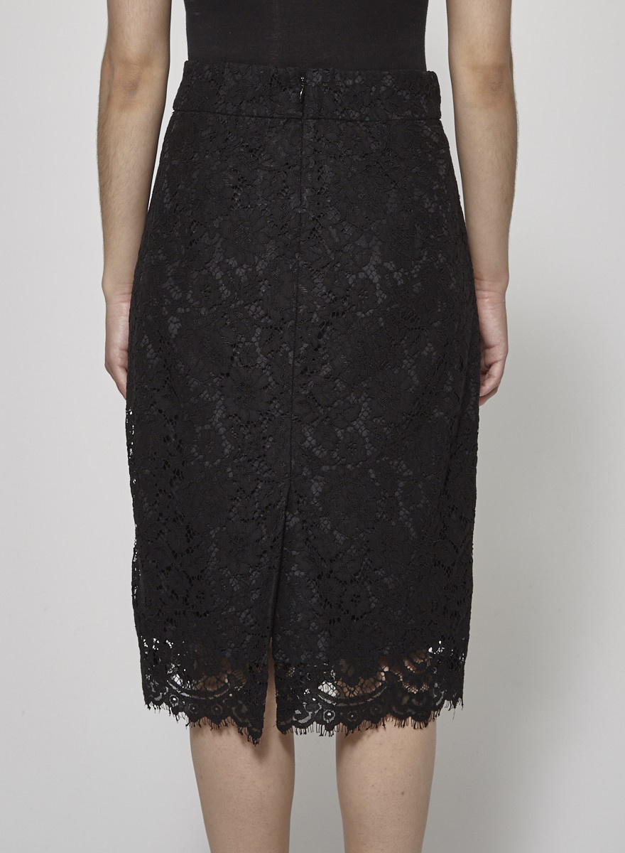 J.Crew Black Lace Skirt