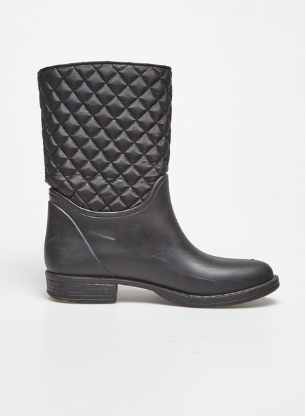 Marc Cain BLACK QUILTED RUBBER BOOTS