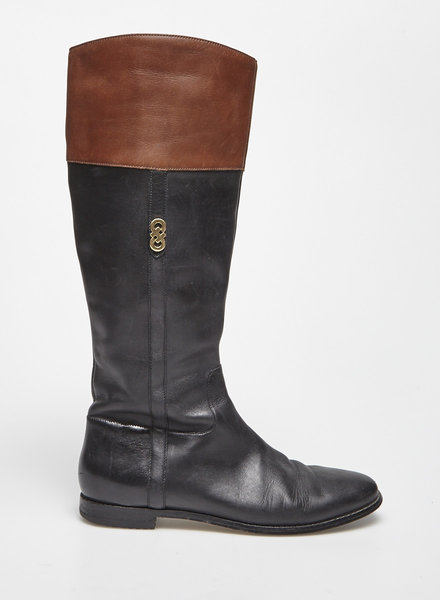 Cole Haan BLACK AND BROWN LEATHER BOOTS